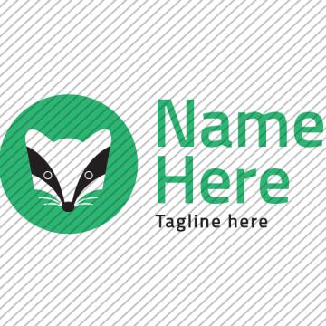 Predesigned Badger logo by Aga Grandowicz. Horizontal 1.