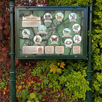 Heritage panel for Kilcolman – an illustrated information board