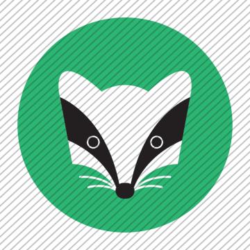 Predesigned animal logo – Badger