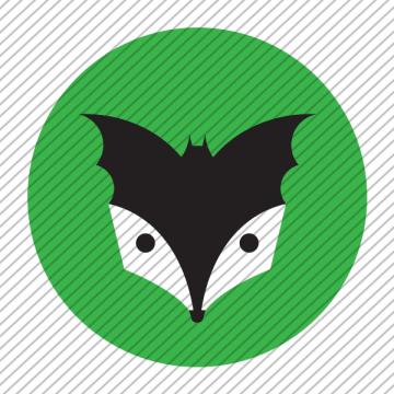 Predesigned animal logo – Bat and Badger