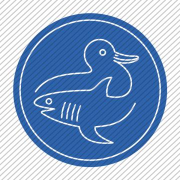 Predesigned animal logo – Duck and Shark