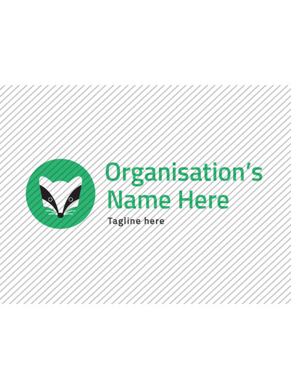 Predesigned Badger logo by Aga Grandowicz. Horizontal 2.