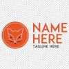 Predesigned Fox logo by Aga Grandowicz. Horizontal 2.