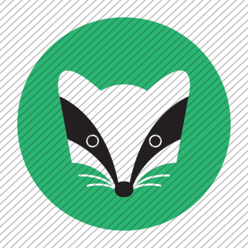 Predesigned Badger logo by Aga Grandowicz. Icon only.
