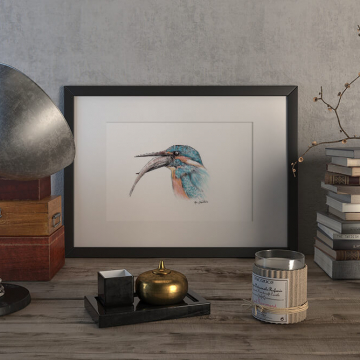 Kingfisher #2 – original artwork by Aga Grandowicz.