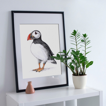 Atlantic Puffin – A4 fine art prints, limited edition for each size (40)